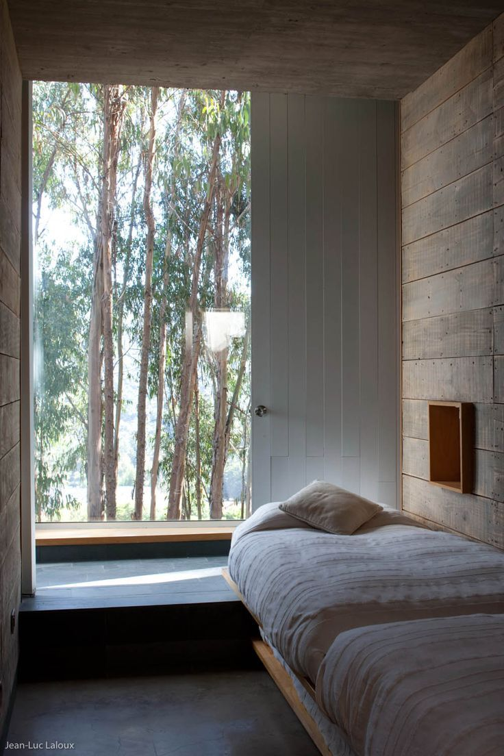 beautiful view from the bedroom http://www.flodeau.com/2014/11/gubbins-arquitectos-omnibus-house/