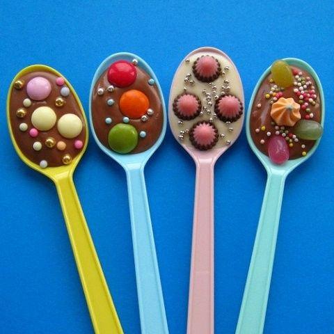 La Fiesta de Olivia   Decoración de fiestas infantiles   Cucharas de chocolate   Tienda online