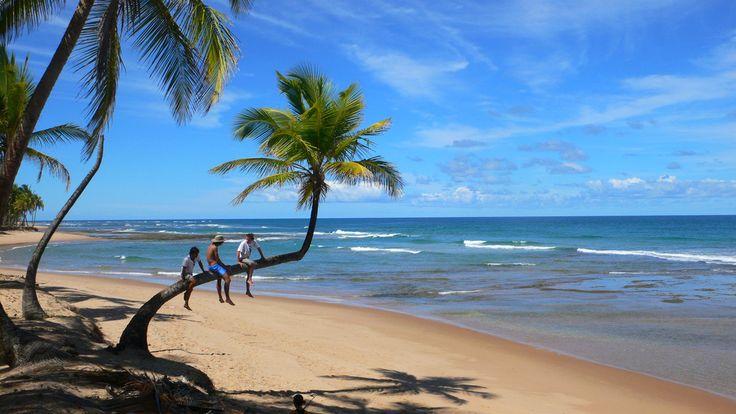 TAIPU DE FORA (BA): Situada na Península de Maraú, litoral sul da Bahia, a 138 km de Salvador, essa praia de 7 km de extensão contém diversos coqueirais e um mar de águas calmas e claras, propícias para mergulho livre. Na costa, há recifes de corais, que na maré baixa formam piscinas naturais onde se pode observar peixes e outros animais marinhos (foto: André Solnik/Flickr-Creative Commons)