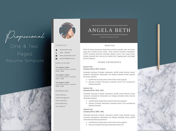 Professional Resume Template 4 Pages @creativework247  Resume Design Templates