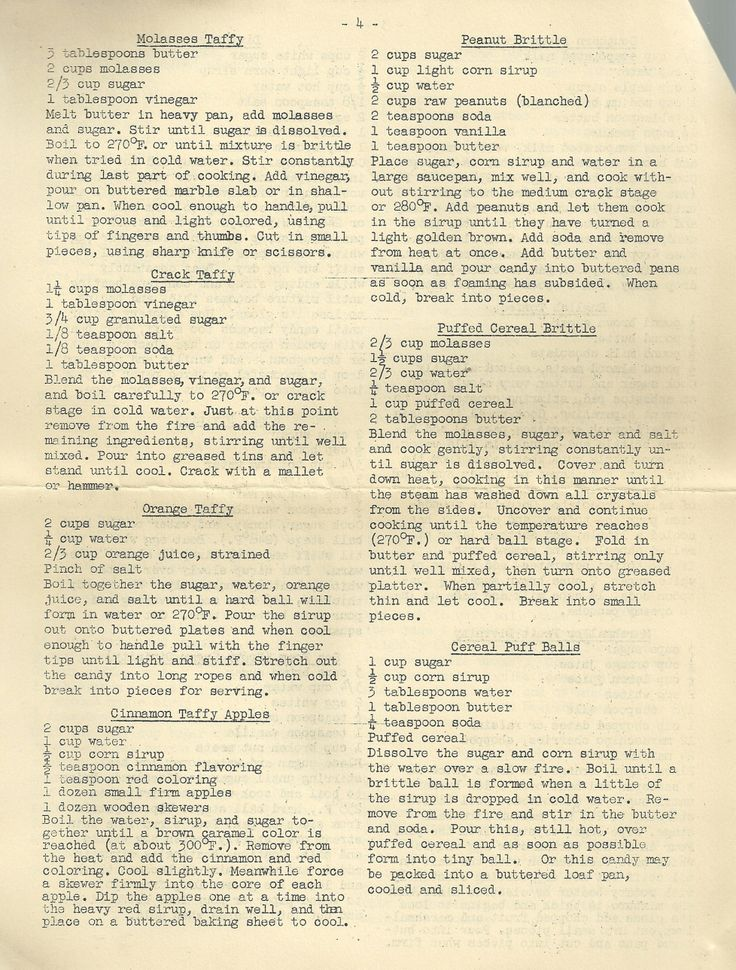Vintage Recipes Simple Homemade Candies 1
