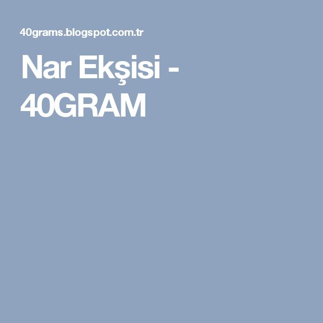 Nar Ekşisi - 40GRAM