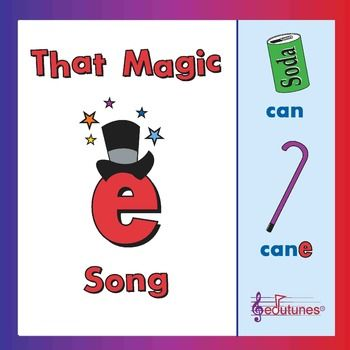 """Silent E"" Song: ""That Magic E"" / Common Core - Aligned ***I LOVE customer feedback! Please rate & pin this FREEBIE if you like it!!!I wrote That Magic E to help my students understand how short vowel words can transform into long vowel words. Use this song as a daily commercial in your K-2 classroom."