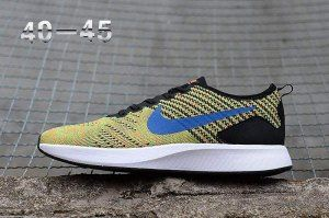 234092d3591a5 Men s Nike Air Zoom Mariah Flyknit Racer 8 Peacock Blue Black White Boys Running  Shoes