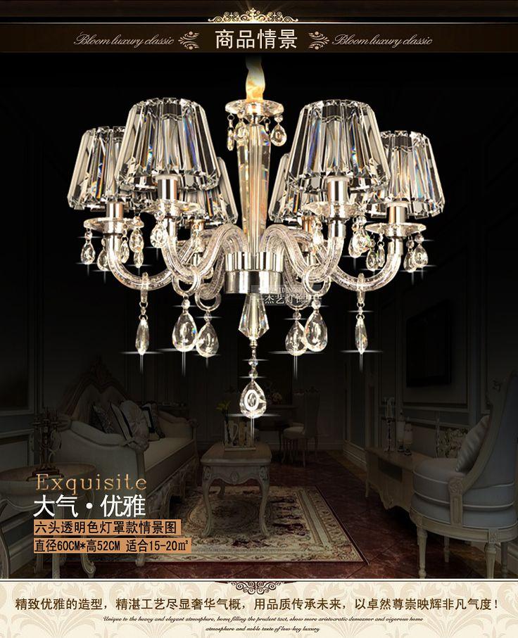 DD698 роскошные европейские люстры Современные хрустальные люстры гостиной огни ресторан люстра спальня лампа высокого класса кристалл покрытие - Taobao
