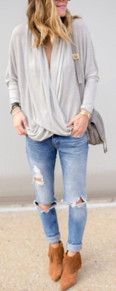 Wrap top & booties.