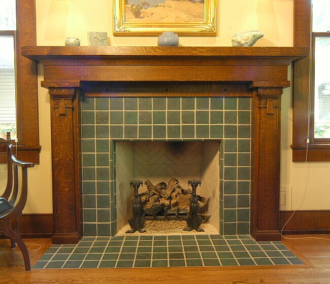 25 best ideas about craftsman fireplace screens on for Bungalow fireplace ideas