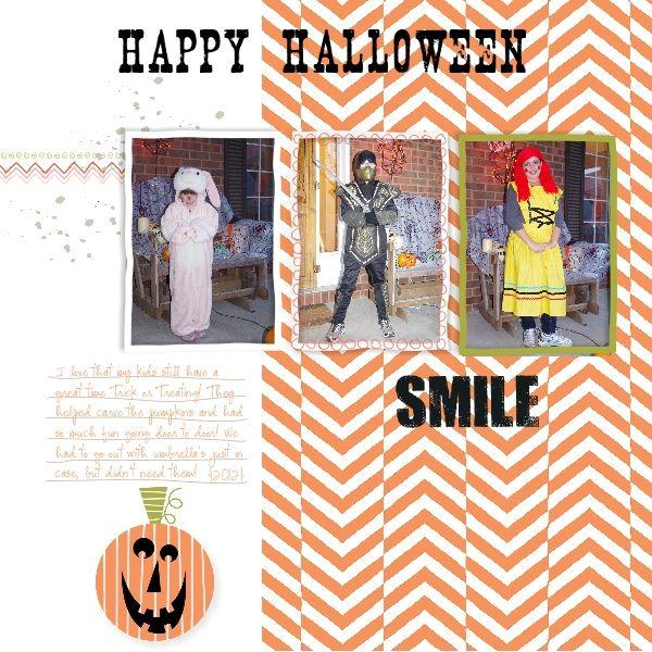 Using my Digital Studio for Halloween scrapbooking #mydigitalstudio  #Halloween  #scrapbooking