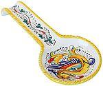 Spoon Rest - Raffaellesco style - 28cm long x 12 cm wide (11 in long x 4.75 in wide)