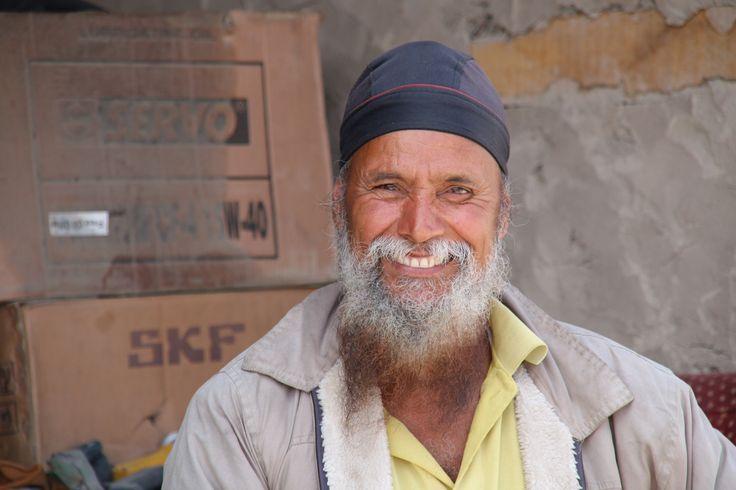 happy man, Diskit, Ladakh