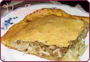 Рыбный пирог из консервов #пирогсрыбой #пирогизконсервов #пирогсрыбойрецепт