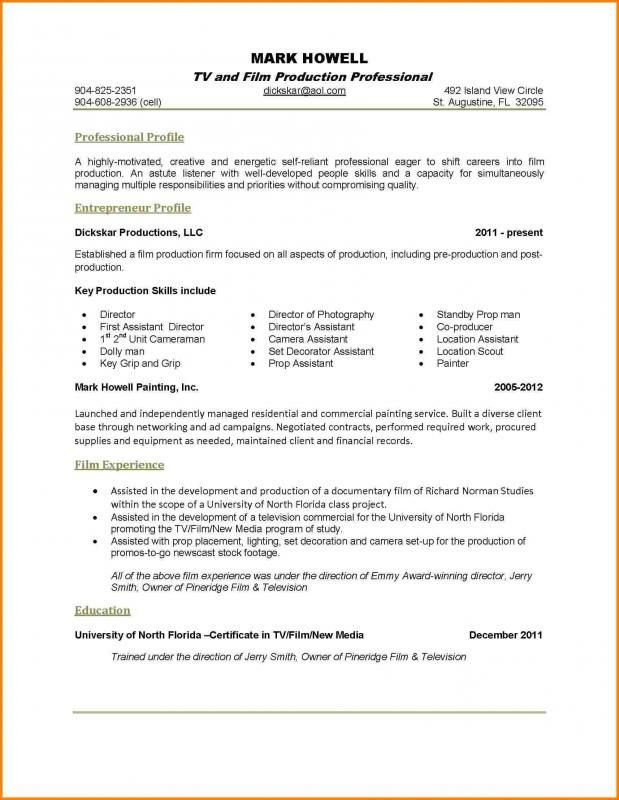 One Page Resume Examples One Page Resume Resume Examples Good Resume Examples