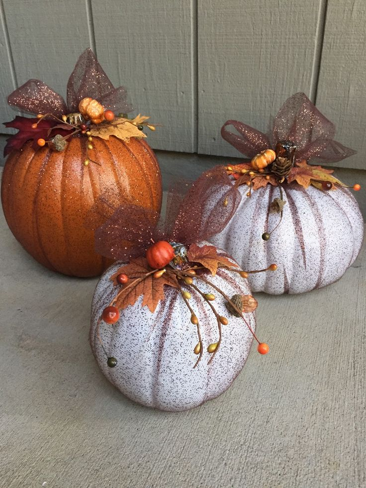 A personal favorite from my Etsy shop https://www.etsy.com/listing/253091334/customized-fall-faux-pumpkin-with-brown