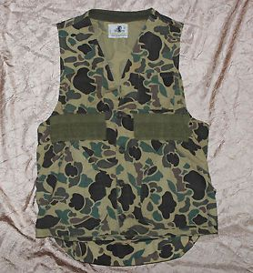 Vintage Black Sheep Camo Hunting Vest Texas Size Small
