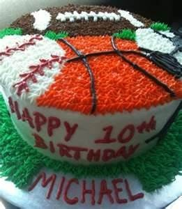 The 25 best Sports birthday cakes ideas on Pinterest Sports