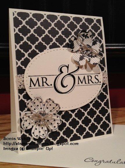 Stampin' Up! Mr. & Mrs., Stampin' Up! Wedding Card, Modern Medley Designer Series Paper