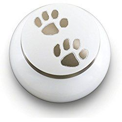 Odyssey Series Cremation Urns for Dogs - Handmade Pet Memorial (25 Small, Cloud White)