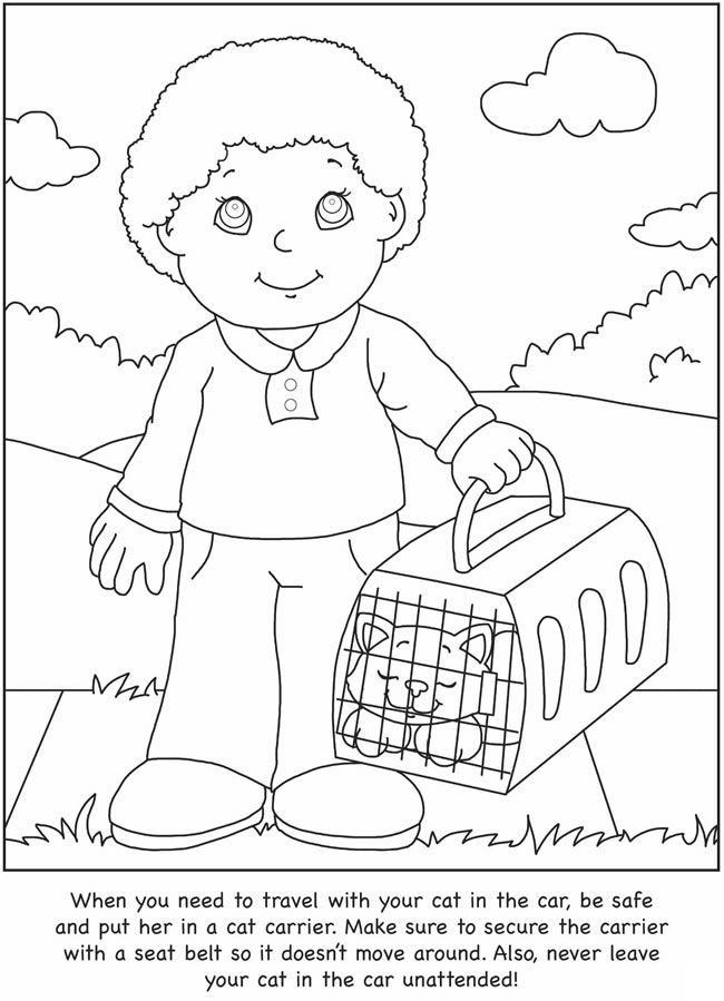 taking care flower coloring pages - photo#14