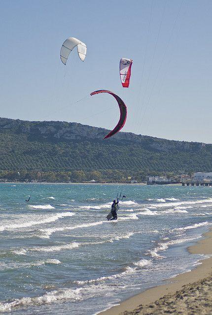 Spiaggia del Poetto, Cagliari. Beach.