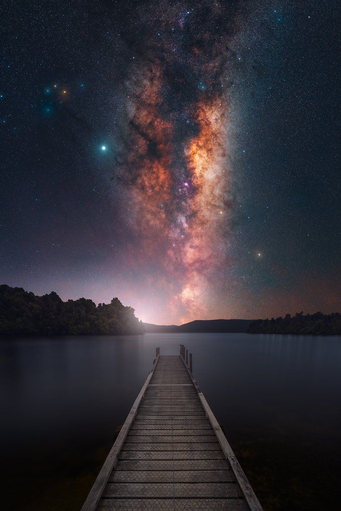 Milky Way Galaxy astronomy landscape picture outer space print /&FREE BONUS PHOTO