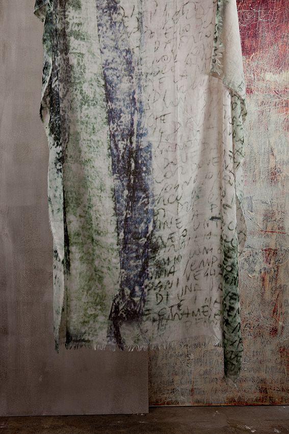photo+ textile design elisabetta scarpini scarf rossoforte