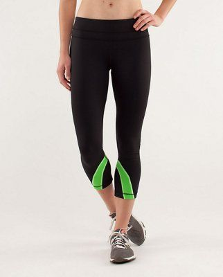 Lululemon Yoga Run Inspire Crop II Black / Frond : Lululemon Outlet Online, Lululemon outlet store online,100% quality guarantee,yoga cloting on sale,Lululemon Outlet sale with 70% discount!$39.79
