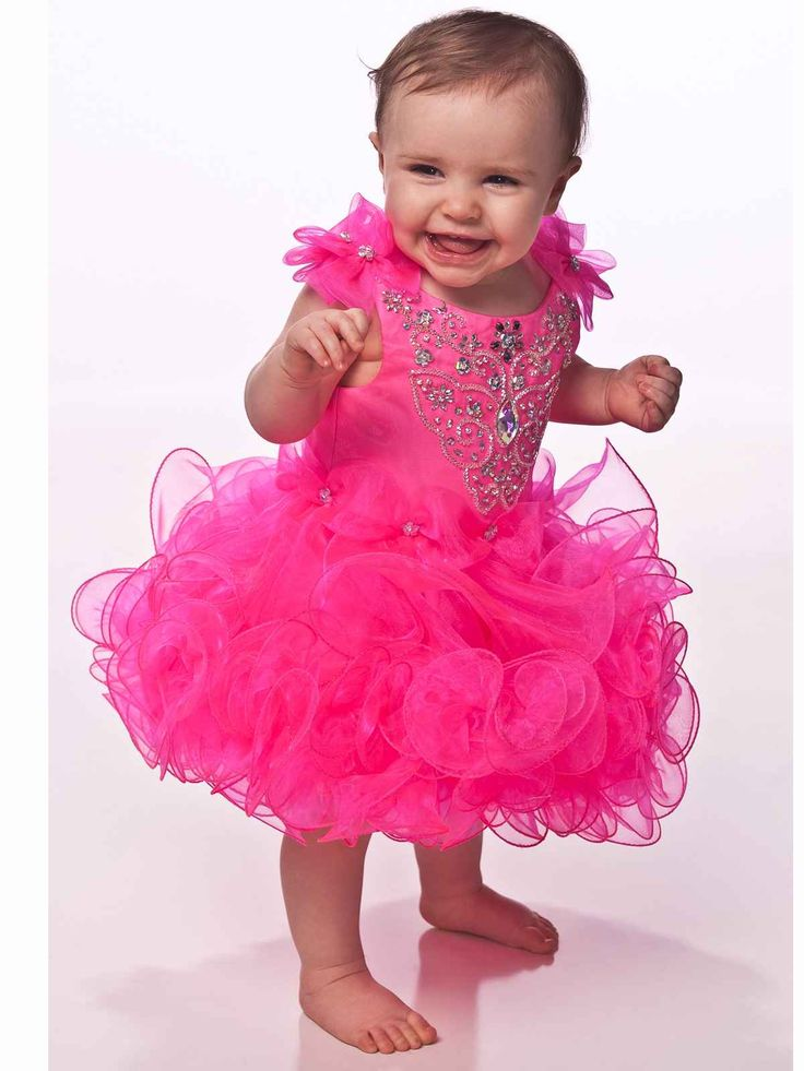 Cheap Baby Pageant Dresses | Beaded Bodice Fashion Baby Pageant Dress For Girls UFB009