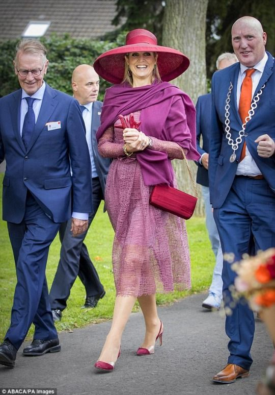 Europe's Royals — victorysp: 13/06/2017 Queen Maxima durign the...