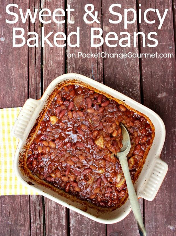 Sweet and Spice Baked Beans   Recipe on PocketChangeGourmet.com