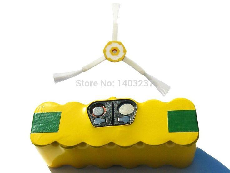 3500 мАч, 14.4 В, ni mh для 780 пылесосы Roomba 595 серии пылесос комплектующие 1 батарея большой емкости 3-мя боковой щетки