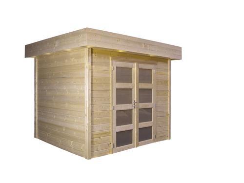 Blokhut Bosuil met espagnoletdeur 300x300 cm