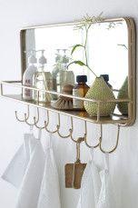 Ellos Home Hängare Annie Mässing - Speglar | Ellos Mobile