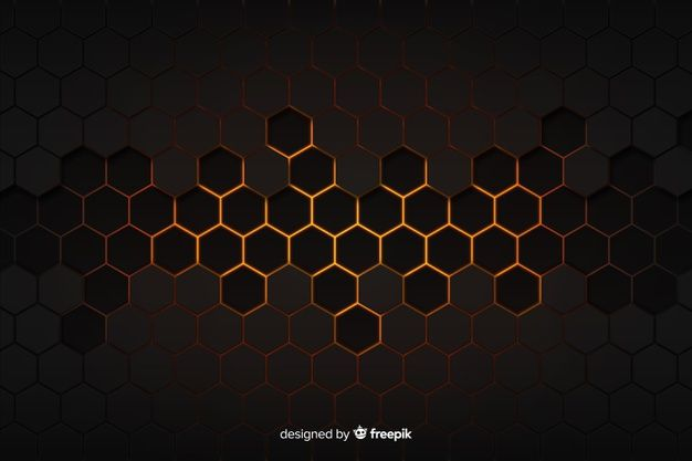 Download Technological Honeycomb Black And Golden Background For