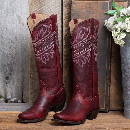 Tony Lama Red Baja Boot