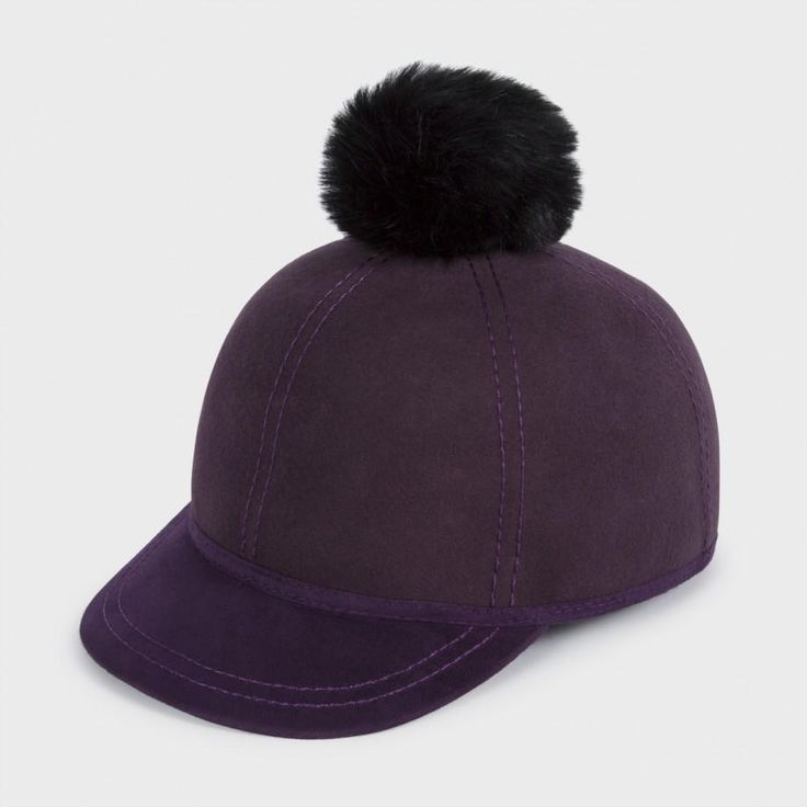 Paul Smith Hats - Damson Wool Baseball Bobble Hat