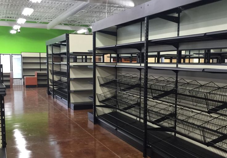 See-Thru Gondola Shelving with Space Plus Conversion Kit & Open End Baskets