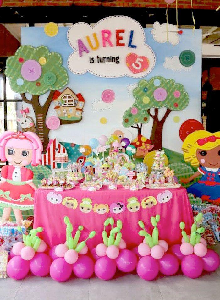 Lalaloopsy themed birthday party via Kara's Party Ideas KarasPartyIdeas.com #lalaloopsy #karaspartyideas Invitation, decor, supplies, favors...