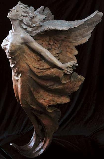"""""""Transcendence"""" by Gaylord Ho. Gaylord Ho was born April 11, 1950, in Hsin-Wu, Taiwan. Gaylord Ho is masterfully skillful sculptor and an inspired artist. His goal in every sculpture is to bring to life the emotion of the moment being frozen forever in clay."""