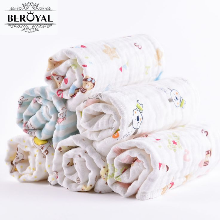 6 Pack New Born Baby Gift Ultra Soft 100% Cotton Baby Washcloths And Wipes  12