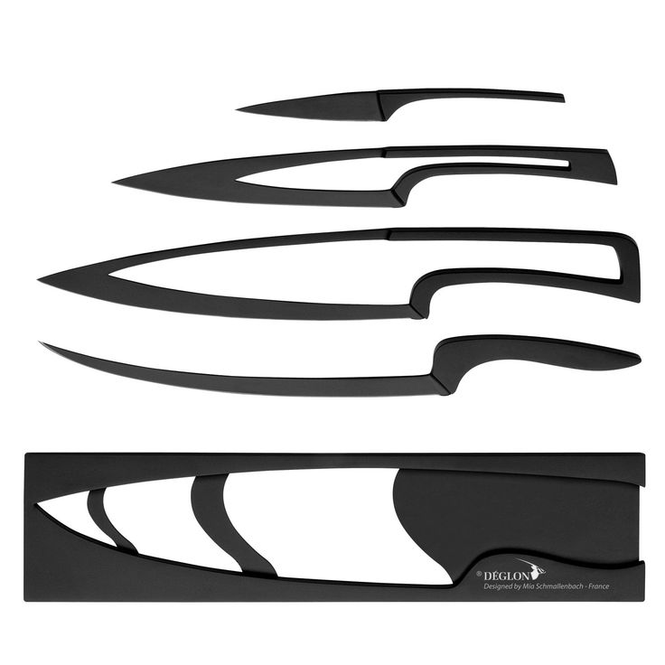 performance meets design with the meeting nested knife set from deglon this striking knife set - Chef Knives Set