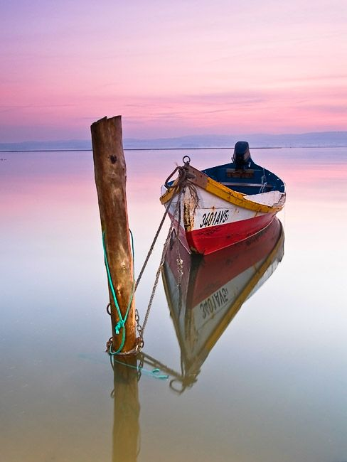 Boat Still Water Pink Sky Just Lovely Yes Very #photos, #bestofpinterest, #greatshots, https://facebook.com/apps/application.php?id=106186096099420
