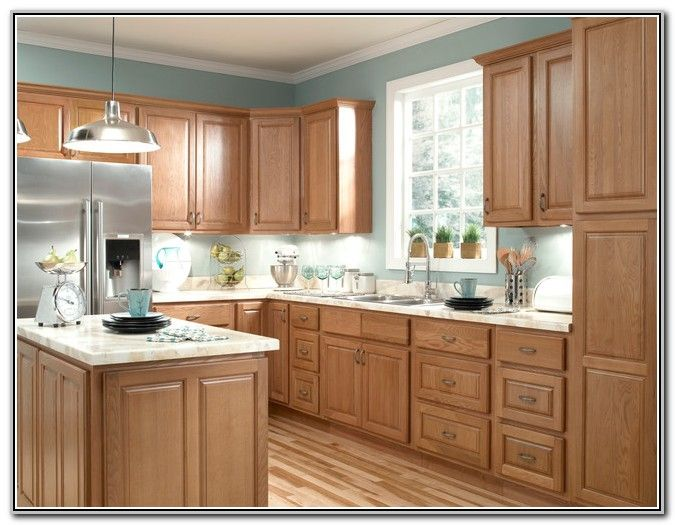 1000 Ideas About Oak Cabinet Kitchen On Pinterest Light