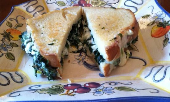Italian-Style Grilled Cheese and Spinach Sandwiches