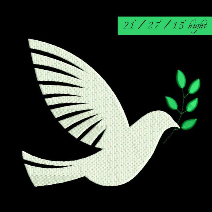 Dove peace embroidery design bird animal machine pattern digital download by GretaembroideryShop on Etsy