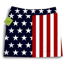 Golf Skorts - 4th of July print