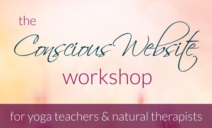 The Conscious Website Workshop, run by Ange Hammond, Resonant Imagery | Best practice tips for websites, social media and email newsletters.