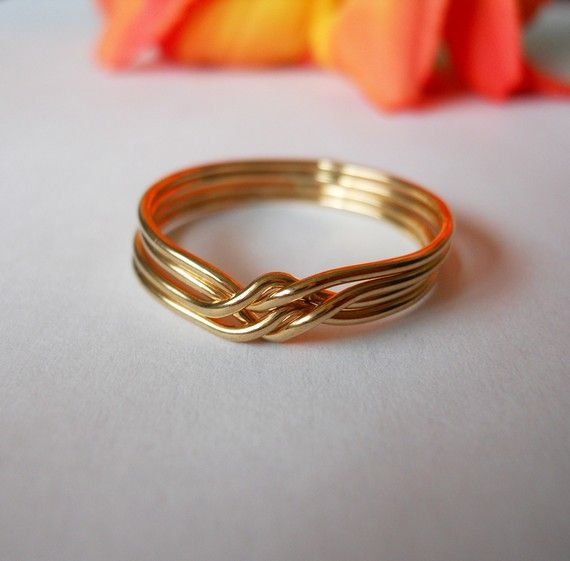 14k Gold Filled Original  Puzzle Ring by StreetBauble on Etsy