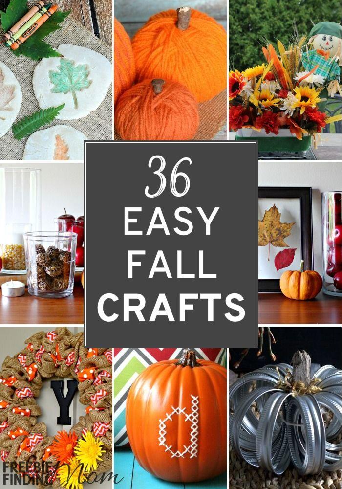 36 Easy Fall Crafts Easy Fall Crafts Fall Crafts For Adults Fall Crafts