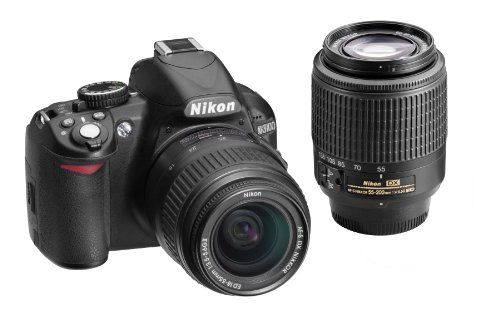 Nikon D3100 14.2Mp Digital Slr Double-Zoom Lens Kit With 18-55Mm And 55-200Mm Dx Zoom Lenses (Black) (Discontinued By Manufacturer), 2015 Amazon Top Rated Digital Cameras #Photography