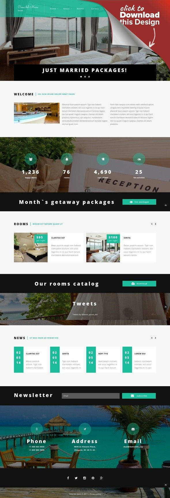 Hotel Suite Joomla Template CMS & Blog Templates, Joomla Templates, Business & Services, Hotels Templates This hotel Joomla theme features a rather capacious layout accommodating multiple elements in a compact manner. Visitors can easily look through your vacant rooms in a full-widt...